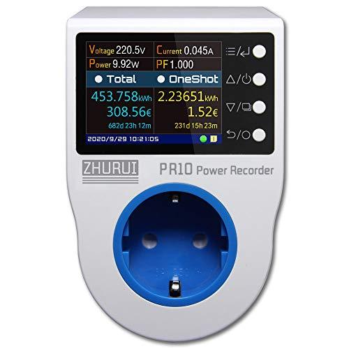 ZHURUI PR10-C EU16A (enchufe alemán) toma de corriente para el hogar/medidor de energía para el hogar/grabador de energía/medidores de electricidad/16 unidades de moneda