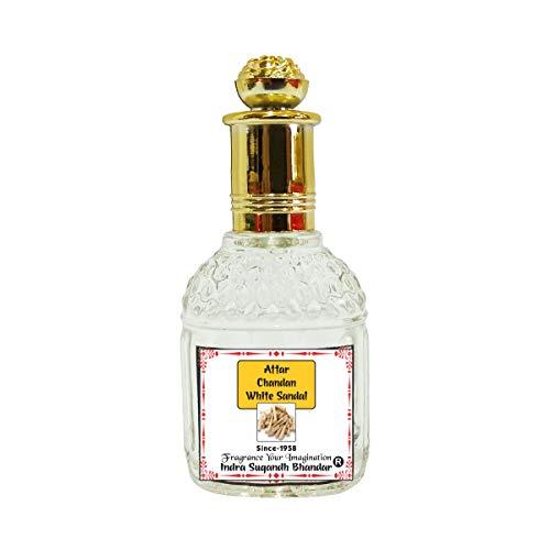 Indra Sugandh Attar White Sandal 25 ml ~ Natural Attar Chandan~Sandalwood Long Lasting Fragrance