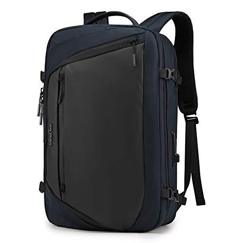 WindTook 15.6 Zoll Laptoptasche 3 in 1 Laptop Rucksack Arbeitstasche Aktentasche Umhängetasche Tragetasche Herren Schulrucksack für Business Schule Uni, Blau