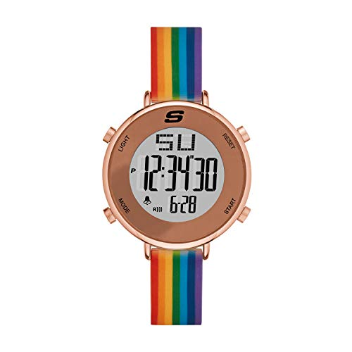 Skechers Women's Magnolia Quartz Watch with Silicone Strap, Multicolor, 14 (Model: SR6188)