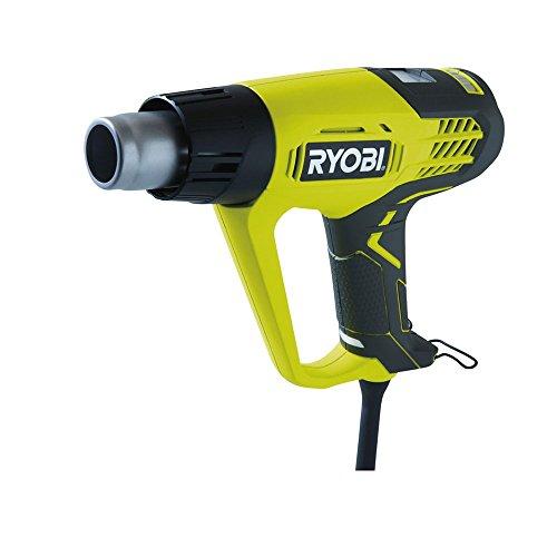 Ryobi EHG2020LCD heat gun 500 l/min Negro, Amarillo 2000 W - Pistola de calor (500 l/min, 50-650 °C, 250 l/min, Negro, Amarillo, LCD, Corriente alterna)