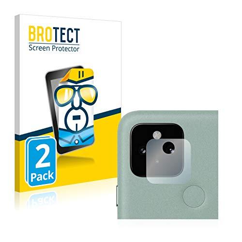 BROTECT Schutzfolie kompatibel mit Google Pixel 5 (Kamera) (2 Stück) klare Displayschutz-Folie