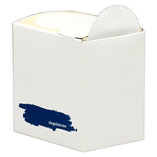 Siegelsterne selbstklebend Ø 60 mm weiß Pack á 500 Stück Siegelmarken Sterne aus Papier