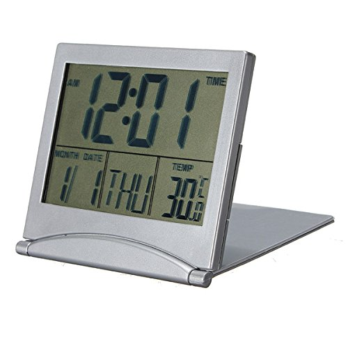 Viviance Tafelklok, kalender, datum, digitaal alarm, Celsius, Fahrenheit Thermom