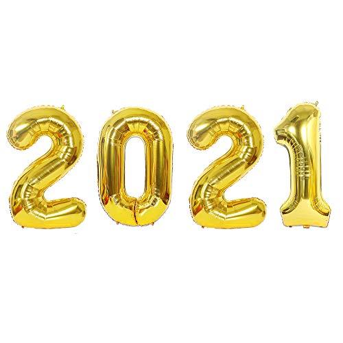 WENPLUS16 인치 2021 번호 호일 풍선 새해 이브 축제 파티 기념일 용품 졸업 홈 오피스 장식-골드