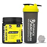 Advance MuscleMass Citrulline Malate 2:1 | Pure/Unflavoured | Preworkout Supplement| with Shaker |