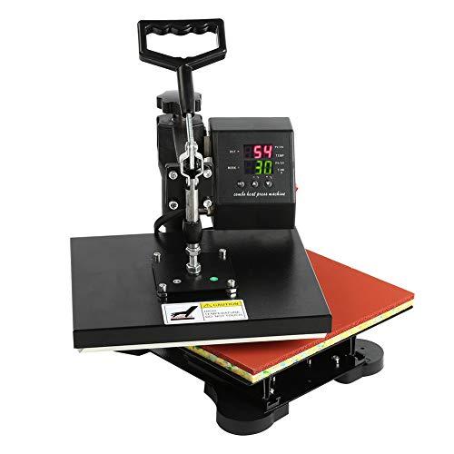 Cocoarm Transferpresse Tassenpresse Textilpresse T Shirtpresse Heat Press Machine Hochdruck Dual Display Digital Handbuch T-Shirt Heißpressmaschine EU-Stecker