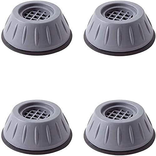 4 Pies para Lavadora, Antivibración, Sofá Amortiguador Vibración para Lavadora de Goma para Lavadora y Secadora 4 cm