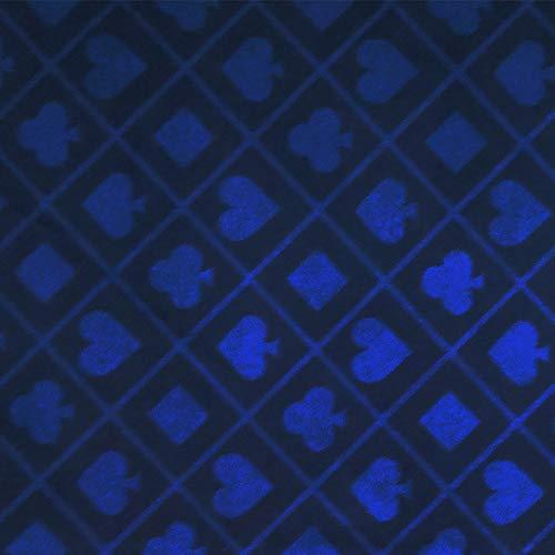 Baliken Poker-Tischdecke, 278 x 152,4 cm, zweifarbig, blau