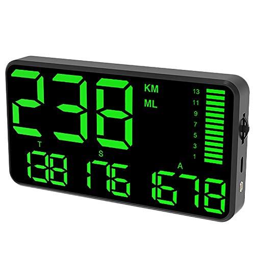 Display HUD per auto, Riloer GPS Head Up Display Tachimetro digitale con schermo HD da 5,5 pollici, Allarme di velocità eccessiva, Allarme di fatica alla guida, Km/h MPH