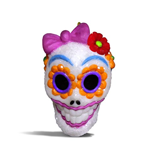 Hallmark Keepsake Halloween Decor Mini Ornament 2018 Year Dated, Sugar Skull Gal Miniature, 1'
