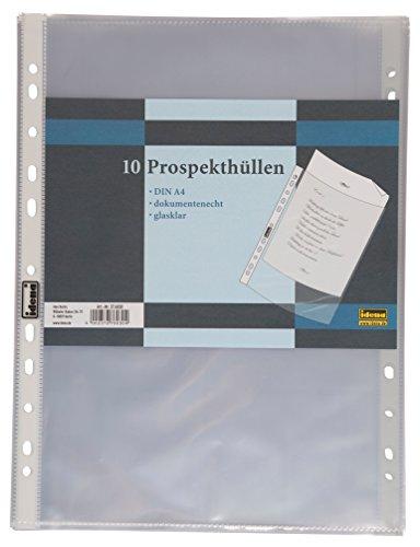 Idena 376030 Prospekthülle (A4, glasklar, 10 Stück)