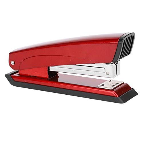 Grapadora sin grapas con resorte para accesorios de aula o escritorio Kit de suministros de oficina(red)