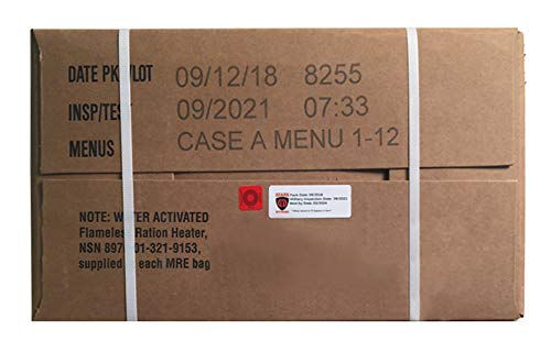 Ozark Outdoorz 09/2018 Pack, 09/2021 Inspection US Military MRE A OR B Case (A Case)