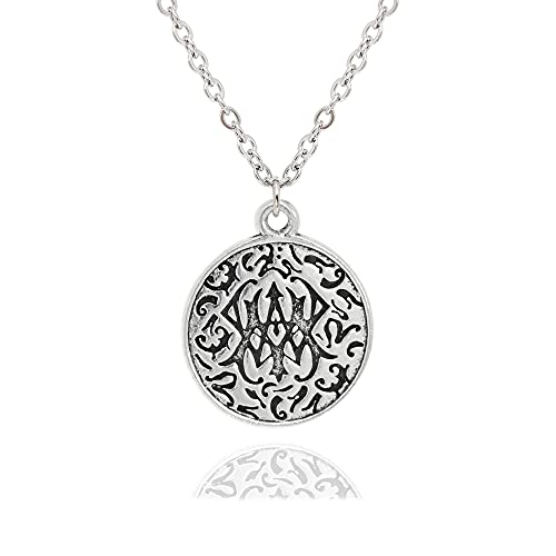 Baronyka Handmade Celtic Knot Necklace for Men, Silver-Plated Irish Triquetra Pendant, 24' with 2' Extension Stainless Steel Necklace, Lobster Clasp, Friendship Celtic Shield Medallion