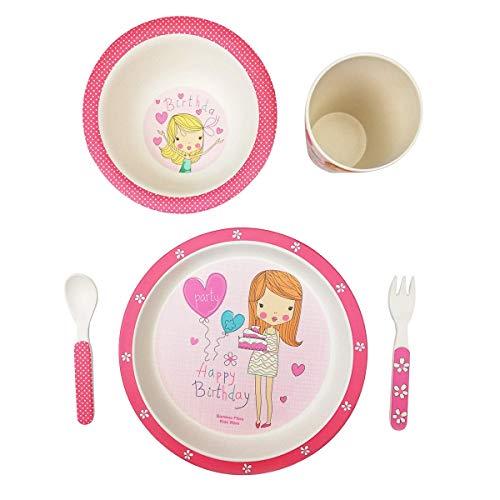 Vajilla infantil bambú bebé niño niña conjunto FIMBOO platos vaso ...