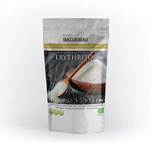 NATURSEED - Eritritol Ecológico Bio 100% Natural - Sustitutivo del azúcar con 0 Kcal - Apto Para Todas Las Dietas - Paleo - Keto - NO GMO (500gr)