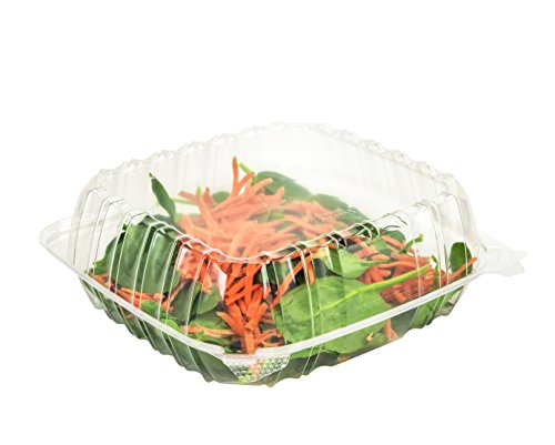 Dart Solo C90PST1 Dart 8 x 8x 3 Clear Plastic Hinged Food Take-Out Container 1-Compartment (Pack of 50)