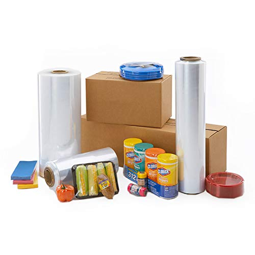 """22"""" Polyolefin Shrink Film Centerfold, Excellent Clarity High Gloss, 4375 ft x 60 Gauge Thick, 1 Roll"""