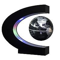 Globales Gadget und lustige Dekoration: Der schwimmende Globus ist etwa 3 Zoll Durchmesser, 360 Grad schwimmend und drehte sich im Midair-Globus, mit farbigem LED-Licht, um es im Dunkeln zu zieren, wenn es eingeschaltet wurde. SCHWIMMEN STABILITÄT & ...