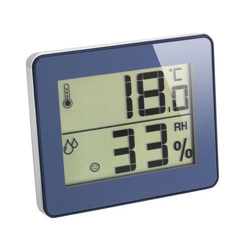 TFA-Dostmann - Termometro igrometro ultra piatto, colore: Blu