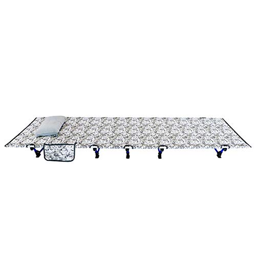 Gray Camouflage Folding Vissen Camping Bed Slapen Portable Backpack Tent Cot Vervangingen Aluminium Legering Voor Indoor Furniture Outdoor Travel Wandelen Jacht,M