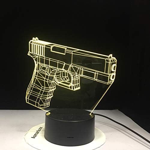 Infantry Night Light Led 3D Illusion Usb Touch Sensor Rgbw Enfant Enfants Cadeau Fps Jeu Arme Pistolet M4 Ak 47 Table Lampe Bureau