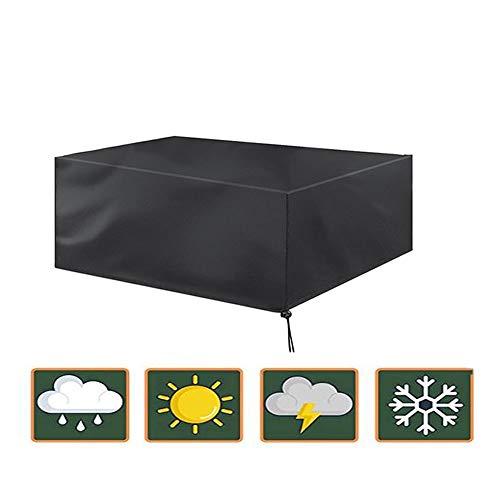 GHHQQZ Gartenmöbel Abdeckung Plane Wasserdicht Anti-UV Reißfestigkeit Esstisch Lounge-Sessel Grill Gartentischdecke, Schwarz, Anpassbar (Color : Schwarz, Size : 1.8x1.4x1m)