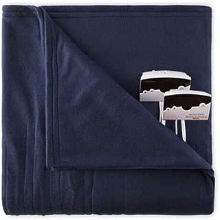 Overstock Biddeford 1003-9052106-544 Knit Fleece Electric Heated Blanket Queen Blue