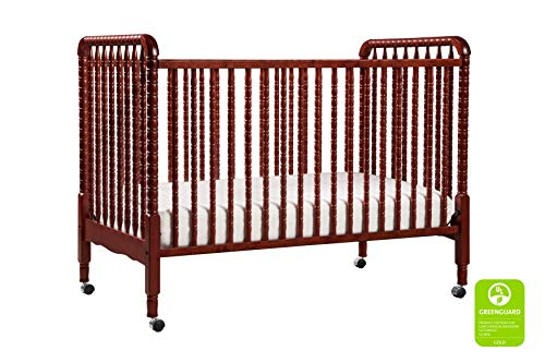 DaVinci Jenny Lind 3-in-1 Convertible Crib in Rich Cherry - 4 Adjustable Mattress Positions, Greenguard Gold Certified