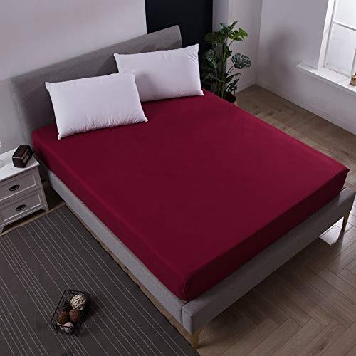 BOLO Hojas fáciles de limpiar, sábanas planas, 160 x 200 x 25 cm