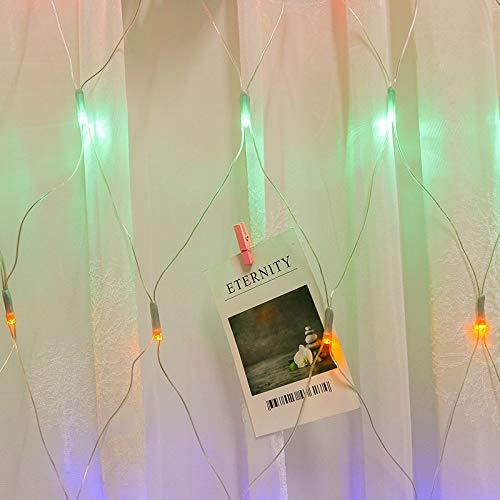 Syqs waterdichte ledlampen, feestelijke sfeer van buitenverlichting, straatverlichting, park, multifunctionele lichtketting, 2 x 2 m