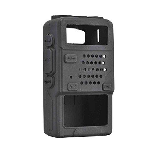 Kongnijiwa Funda de Silicona Protectora Suave Bolsa de Baofeng UV-5R UV-5RA UV-5R Plus Radio walkie Talkie