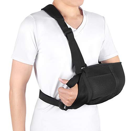 Armschlinge Für Gebrochenen Arm, Armschlinge Schulterverletzung Arm Immobilizer Armschlaufe Medizinische Gepolstert mit Hüftgurt für Handgelenk, Ellenbogen für Damen und Herren, linkes oder rechts Arm