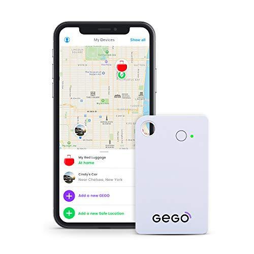 Gego - Rilevatore GPS per bagagli per bambini, in tutto il mondo, GSM, Bluetooth, app, piccolo, 30 giorni di piano gratuito