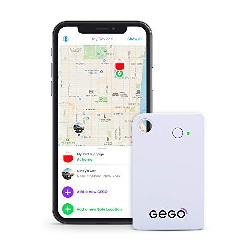GEGO Worldwide Tracker - White - Personal Global Real Time Tracking Device Tracks Anything or Anyone Anywhere (3G/Bluetooth with Mobile App)