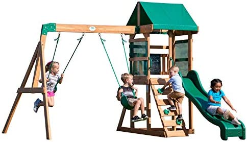 Backyard Discovery Buckley Hill Wooden Swing Set product image