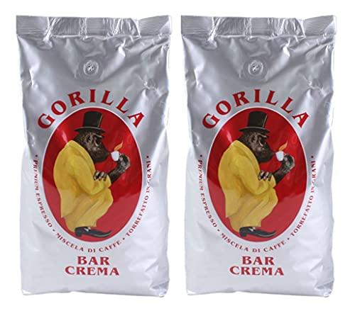 2x Espresso Gorilla 1.000g Bar Crema