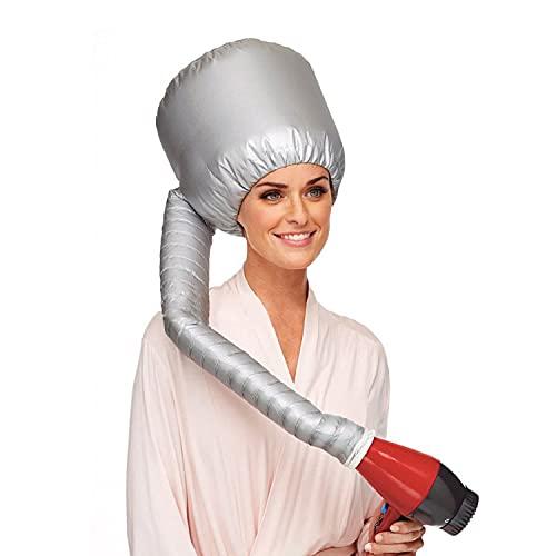 Bonnet Casque Soufflant, GUHEE Casque Chauffant Cheveux, Portable Casque pour Seche Cheveux, Casque Sechoir Accessoires Seche Cheveux pour Salon Barber Accueil Voyage