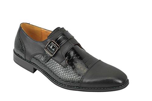 Zapatos del Banquete de Boda Casual de Piel de Serpiente marrón Brillante...