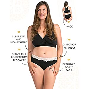 Kindred Bravely High Waist Postpartum Underwear & C-Section Recovery Maternity Panties 3 Pack