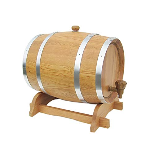 Barril de Roble Dispensador de Agua de Barril de Roble, Dispensador de Barril de Vino Vintage Duradero práctico con Soporte de Madera, for Almacenar Su Whisky de Licores Añejos Vino, cerveza, sidra, w