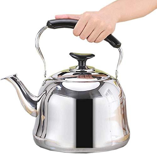 Theepot - RVS Theepot - Whistling Tea Kettle - Thuis grote capaciteit verdikking Tea Kruik van het Water For All Hob/Stove Types inclusief inductie (Color : 5 L)