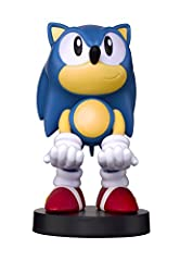"""Styled on the Classic Sonic the Hedgehog! Holds PlayStation and Xbox game Controllers. Works with all models of cell phones. Officially Licensed Sega Merchandise. Stands 8"""" Tall."""