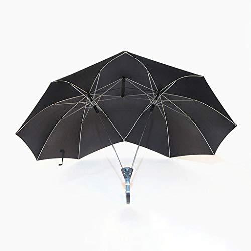 GYB Paraguas Pareja Creativa Paraguas Paraguas Doble Superior Mango Recto Aumento Paraguas Doble Personalidad Paraguas Paraguas de Comercio Exterior Paraguas publicitario Personalizado (Color : A)