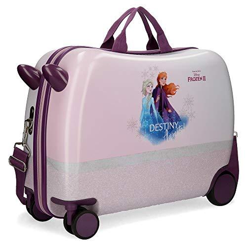 Disney Spirits of Nature Frozen 2 Valigia per bambini Viola 37x55x20 cms Rigida ABS Chiusura a combinazione numerica 38L 2,1Kgs 4 Ruote Bagaglio a mano