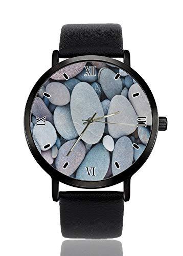 Pebble - Reloj de pulsera de cuarzo de imitación para mujer