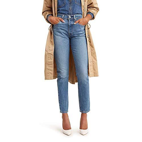 Levi's - Pantalones vaqueros ajustados Premium 501 para mujer - azul - 24W x 28L