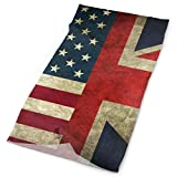 Jxrodekz USA UK Flag Sports Casual Diadema Cuello Polaina Bufanda mágica al Aire Libre