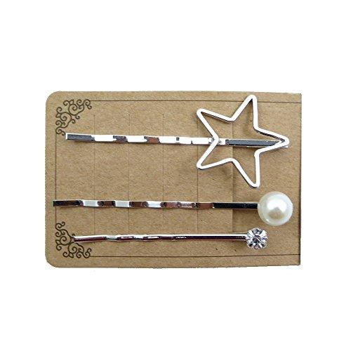 rougecaramel - Accessoires cheveux - Mini pince forme étoile lot de 3pcs - argenté
